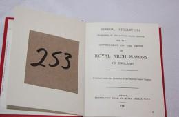 Royal Arch – Regulations (1961)